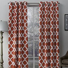 Exclusive Home 2-pack Durango Geometric Print Sateen Woven Blackout Window Curtains