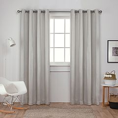 Exclusive Home 2-pack Carling Basket-weave Textured Woven Blackout Window Curtains