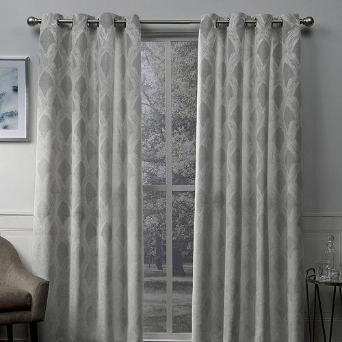 Exclusive Home 2-pack Dorado Geometric Textured Linen Jacquard Window Curtains