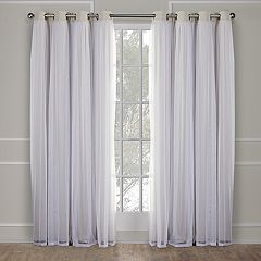 Exclusive Home 2-pack Catarina Layered Solid Blackout and Sheer Window Curtains