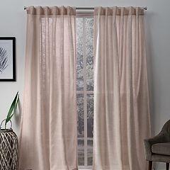 Exclusive Home 2-pack Bella Sheer Hidden Tab Top Window Curtains