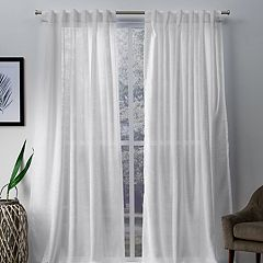 Exclusive Home 2-pack Bella Sheer Hidden Tab Top Window Curtains
