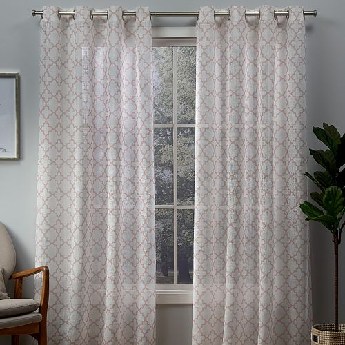 Exclusive Home 2-pack Helena Printed Sheer Window Curtains