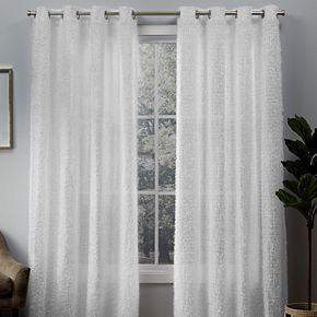 Exclusive Home 2-pack Eyelash Grommet Top Window Curtains