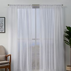 Exclusive Home 2-pack Hemstitch Sheer Embellished Window Curtains