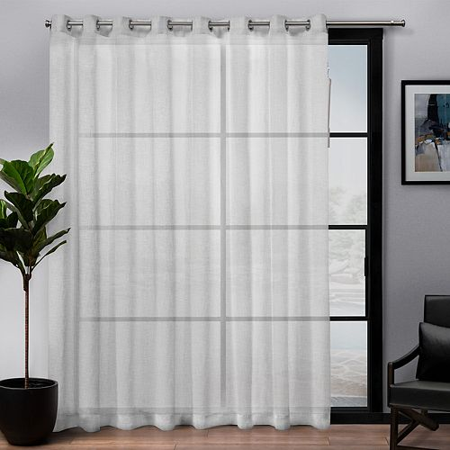 Exclusive Home 1-panel Belgian Patio Textured Sheer Window Curtain