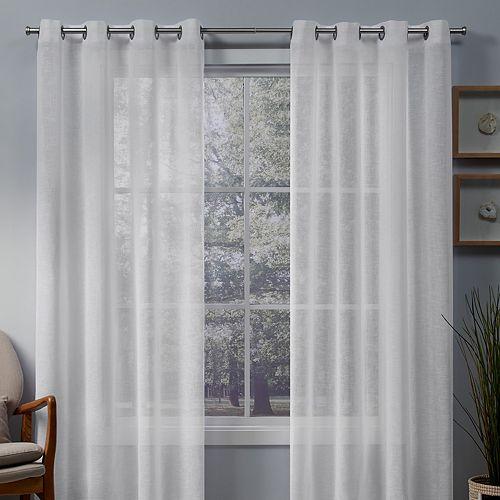 Exclusive Home 2-pack Belgian Sheer Window Curtains