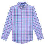 Boys 8-20 IZOD Roadmap Plaid Button-Down Shirt