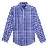 Boys 8-20 IZOD Castaway Plaid Button-Down Shirt