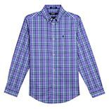 Boys 8-20 IZOD Castaway Plaid Button-Down Shirt