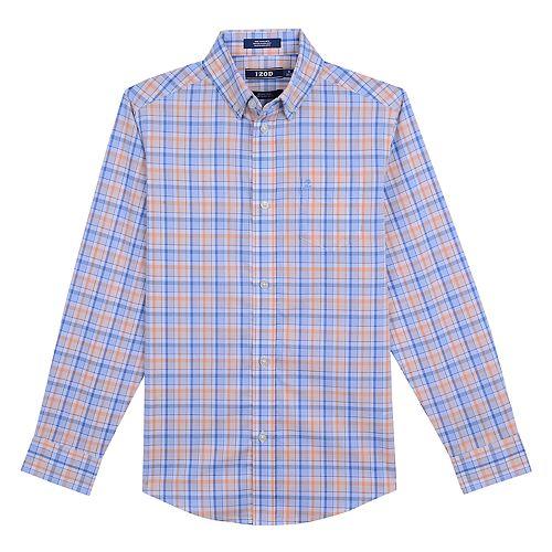 Boys 8-20 IZOD Saltwater Plaid Button-Down Shirt