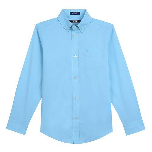 Boys 8-20 IZOD Houndstooth Button-Down Shirt