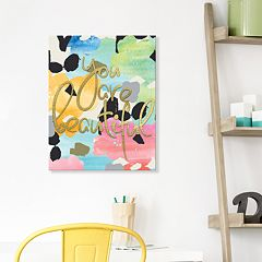 Artissimo Designs 'You Are Beautiful' Canvas Wall Art