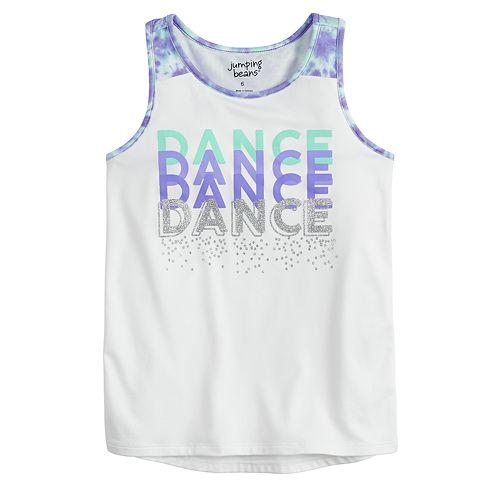 """Girls 4-12 Jumping Beans® """"Dance"""" Racerback Tank Top"""