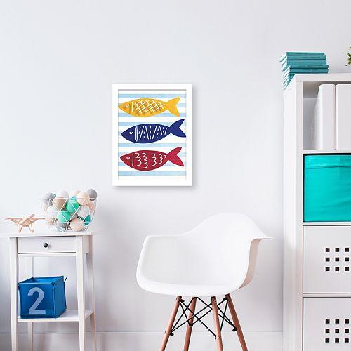 Artissimo Designs Three Little Fishes Shadowbox Wall Decor