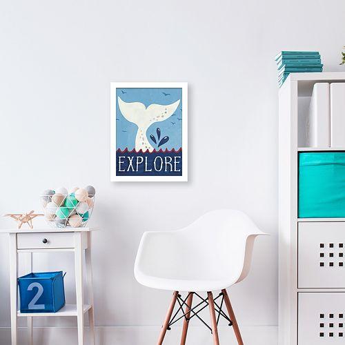 "Artissimo Designs Whale ""Explore"" Shadowbox Wall Decor"