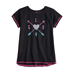 Girls 4-12 Jumping Beans® Glittery Graphic Tee