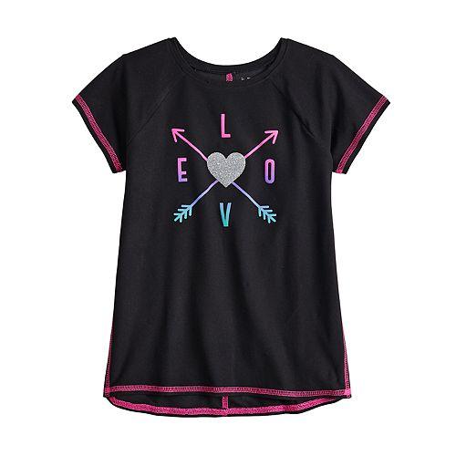 Girls 4-12 Jumping Beans® Glittery Graphic Tee
