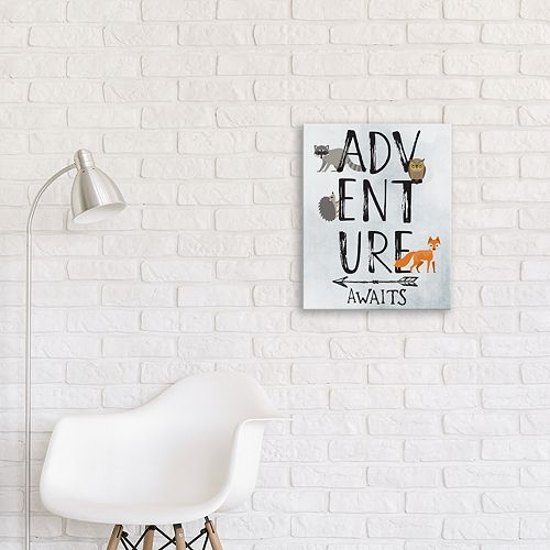"Artissimo Designs ""Adventure Awaits"" Canvas Wall Art"