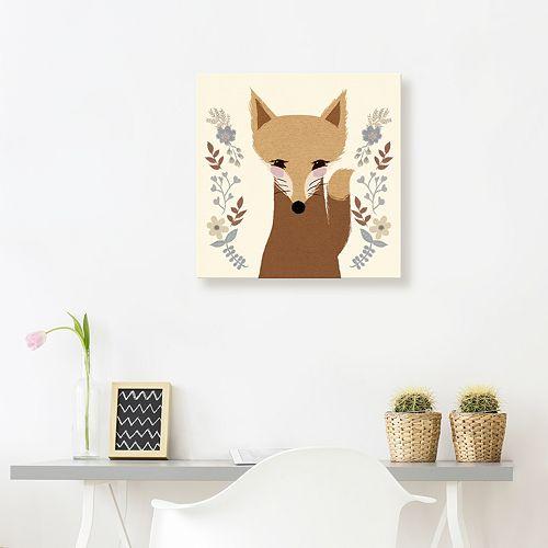 Artissimo Designs Sweet Fox Canvas Wall Art