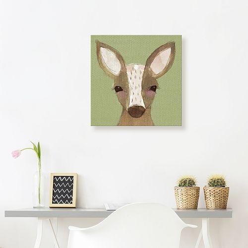 Artissimo Designs Deer Canvas Wall Art