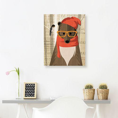 Artissimo Designs Mr. Bear Canvas Wall Art