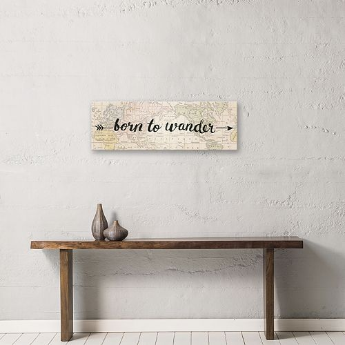 "Artissimo Designs ""Born To Wander"" Canvas Wall Art"