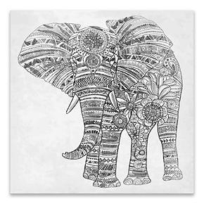 Artissimo Designs Elephant Walk Canvas Wall Art