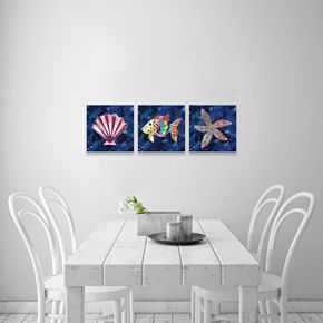 Artissimo Designs Boho Reef Canvas Wall Art 3-piece Set