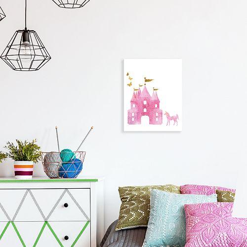 Artissimo Designs Dreamy Castle Canvas Wall Art