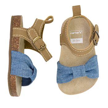 137a2fc4641b Baby Girl Carter s Chambray Cork Sole Sandal Crib Shoes