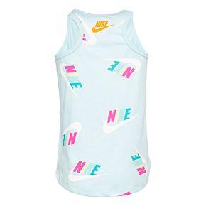 Girls 4-6x Nike Logo Print Tank Top