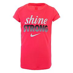 Girls 4-6x Nike 'Shine Strong' Dri-FIT Graphic Tee