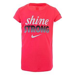 "Girls 4-6x Nike ""Shine Strong"" Dri-FIT Graphic Tee"