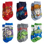 Disney / Pixar Toy Story Toddler Boy 6-pack Low-Cut Socks