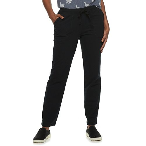 Women's SONOMA Goods for Life™ Midrise French Terry Straight-Leg Pants