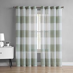 VCNY 2-pack August Semi Sheer Window Curtains