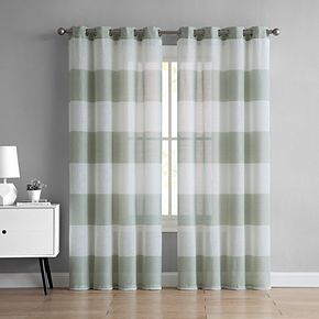 VCNY 1-panel August Semi Sheer Window Curtain