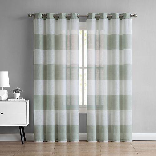 VCNY 1-panel August Semi Sheer Window Curtain