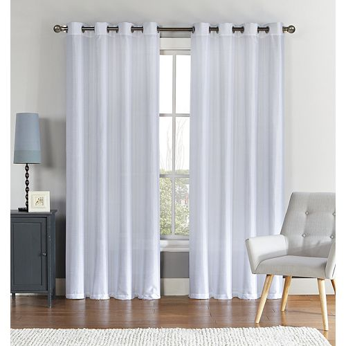 VCNY 1-panel Ischia Embroidered Sheer Window Curtain
