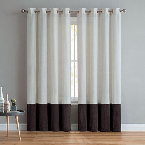 VCNY 1-panel Vivienne Linen Velvet Window Curtain