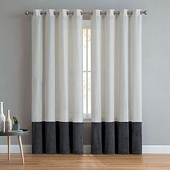 VCNY 2-pack Vivienne Linen Velvet Window Curtains