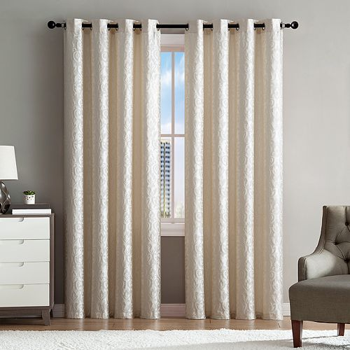 VCNY 1-panel Sophie Jacquard Window Curtain