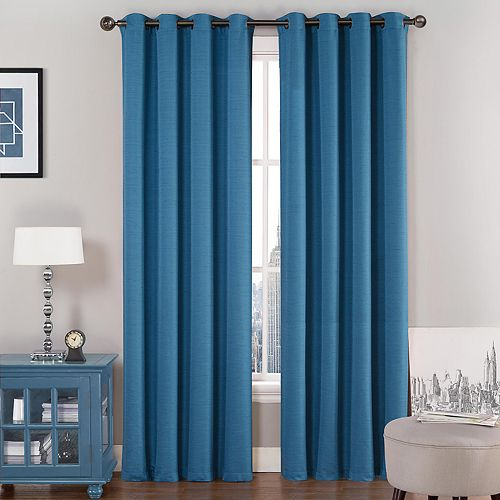 VCNY 1-panel Saxton Lined Window Curtain