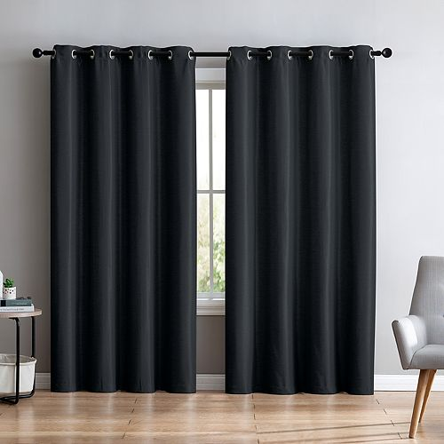 VCNY 1-panel Sonia Faux Silk Foamback Window Curtain
