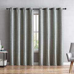 VCNY 2-pack Sonia Faux Silk Foamback Window Curtains