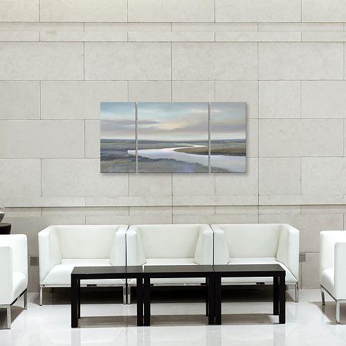 Artissimo Designs Riverbend IV Canvas Wall Art 3-piece Set