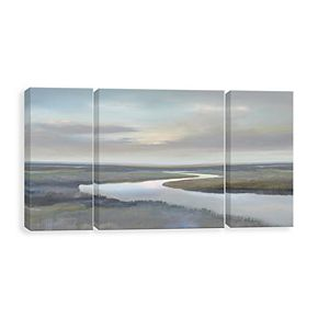 Artissimo Designs Riverbend IV Canvas Wall Art 3-piece Set