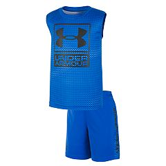 Toddler Boy Under Armour Sync Logo Muscle Tee & Shorts Set