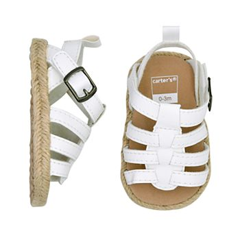 ccdbd0d71407 Baby Girl Carter s White Strappy Sandals